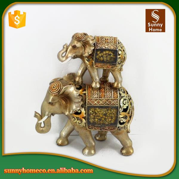 Home Decoration Polyresin Elephant Crafts