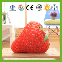 New design various types fruit plush hassock bench cushion for baby