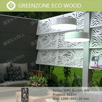 natural garden balcony coutyard deco wood plastic composite (wpc) picket fence