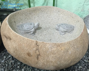 natural stone garden bird bath bowl decorative fish ponds