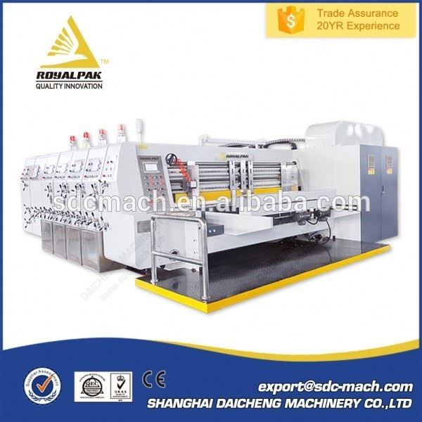 Most Popular Multi function Carton used printer slotter machine