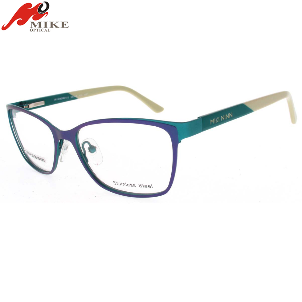 glasses frame with specialized venge,acetate sheet stainless steel