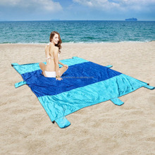 Cheap Foldable Nylon waterproof beach blanket
