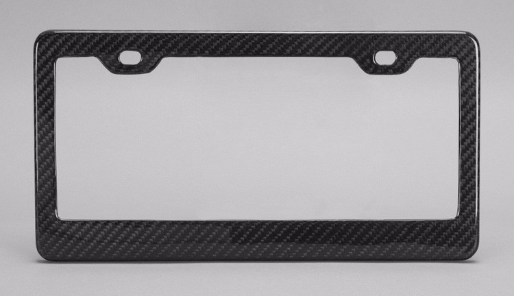High performance! Durable 100% full carbon fiber car license plate frame for USA universal