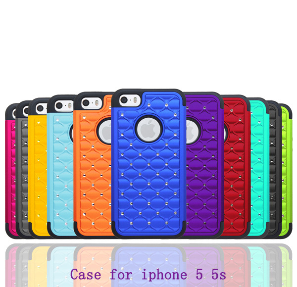 15 colors available bling bling fashional phone cover for iphone 5 handphone / jewelry mobile cover for iphone 5S luxury case
