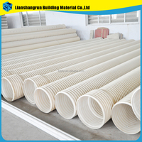 PVC / HDPE / PU / MPP double wall plastic corrugated pipe for sale