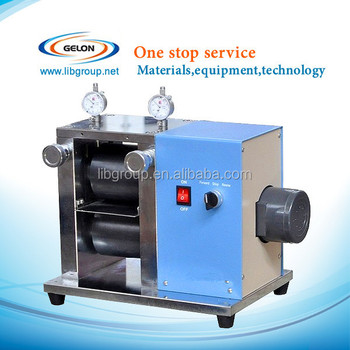 Single sheet calendar machine for lithium ion battery production line,small roller machine