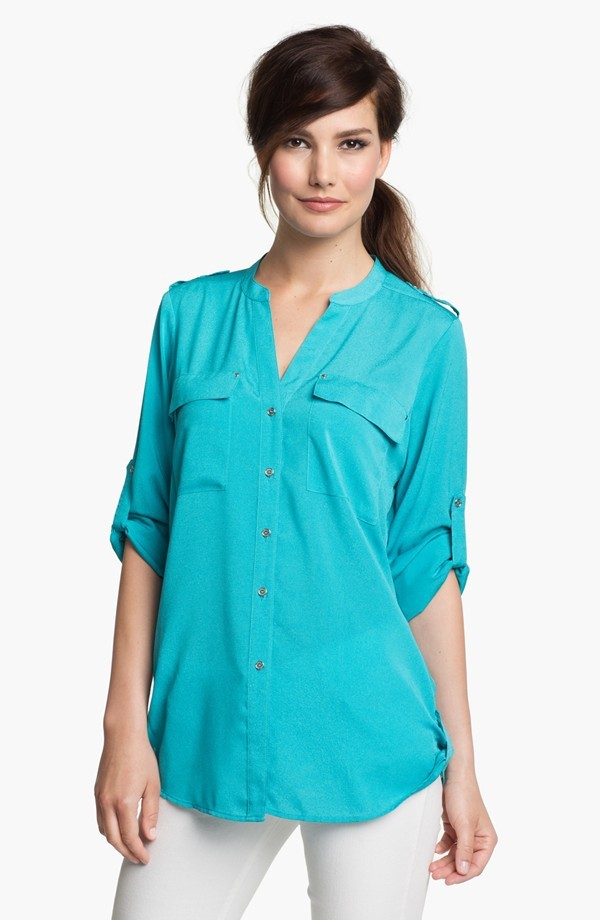 heavy work plus size blouses for elegant ladies