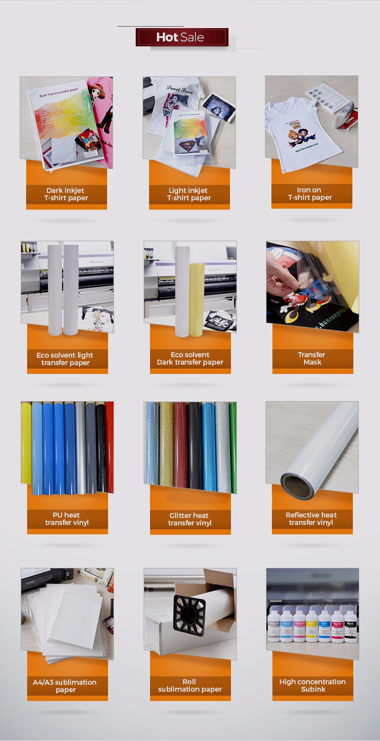 Super flexible easy cut soft stretch pu based heat for Best quality t shirt transfer paper