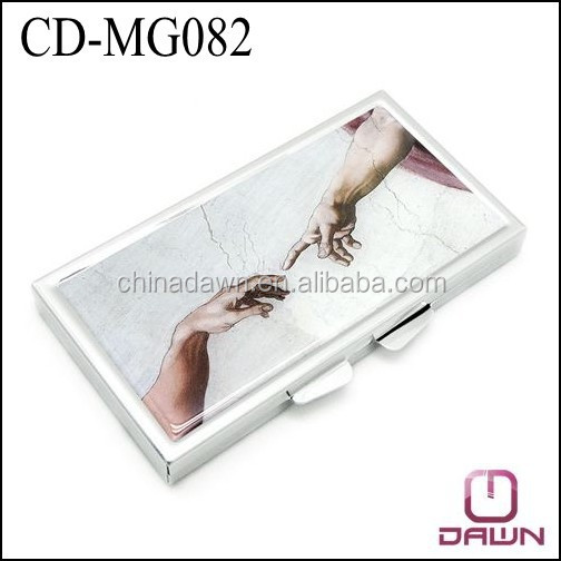 Rectangle metal personalized pocket mirror CD-MG082