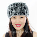 CX-E-37Q Alibaba Wholesale Oversize Knit Rex Rabbit Fur Winter Headband