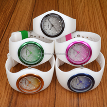 New Arrival fashion Ice- Cream silicone lady glittering dial Watch