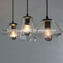 Indoor hanging colours glass shade decorative LED modern pendant light