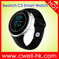Bwatch C5 UV Tester Round Touch Screen Bluetooth heart rate monitor wrist pedometer watch support phone call