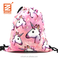 Fashion rock party sport shoping canvas cotton backpack waterproof cloth carrying bag