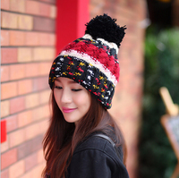 The new color matching knitting hat in winter Ms. Lovely warm ear muffs head cap mohawk knitted hats