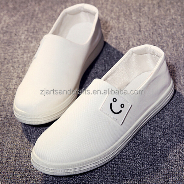 2016 china wholesale loafer shoes comfortable flat canvas shoes for women