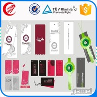 OEM printed brand name jeans paper hang tags label