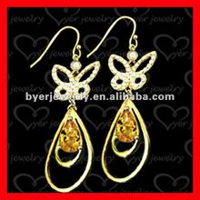fashion style gold earrings 2012 new design