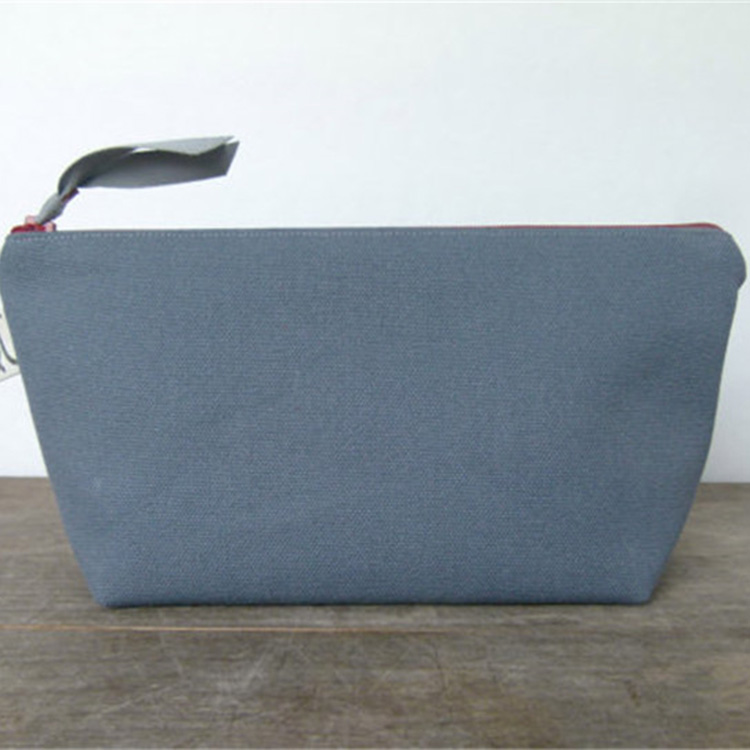 new arrival long blue canvas make up brush bag