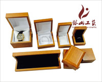 Customized luxury wooden PU leather wrist watch box with High grade cotton flannel pillow inside