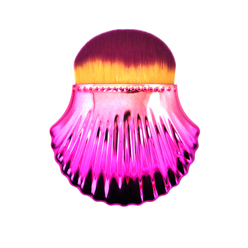 Hot Selling Glitter Soft Dense Hair Pink Seashell Korean Makeup Brush