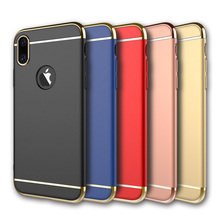 New Arrival 3in1 Case for iphone X Ultra thin Hard Full PC Plastic Case for apple iphoneX Logo Hole Slim
