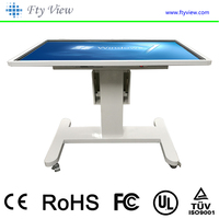 55 inch floor standing interactive touch screen kiosk LCD monitor with adjustable angle base