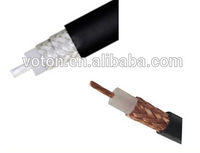 facory price brass copper double shielded PVC jacket Flexible rg223 rf coaxial cable