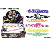 New Novelty Toy Promotion Strap Tattoo Silicon Bracelet Band