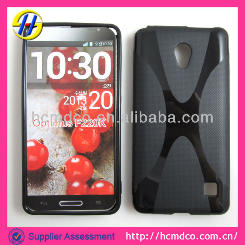 Hot selling trendy clear s line TPU phone case for LG f220k,accept paypal