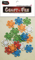 Flower Wood Painting Sewing Buttons Scrapbooking diy crafts