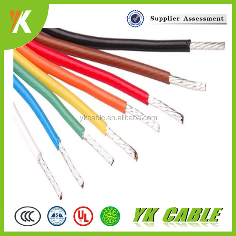 250 Degrees Teflon Insulated tinned copper power wire color code