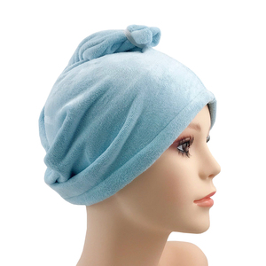 customized solid color quick drying hair salon hair wrap drying towel turban