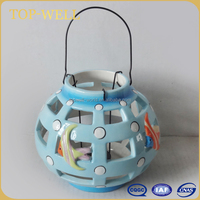 Funny fish decor ceramic candle lantern candle holder made in China