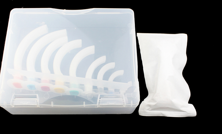 Disposable colorful medical oral airway with all sizes