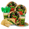 Kids dinosaur party supplies set party favors and decoration paper plate and cup dinnerware dinosaur theme disposable tableware