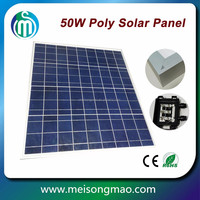 Wholesale poly solar panel 50W photovoltaic solar panel