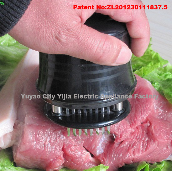 56 Stainless Razor-sharp Steel Blades Meat Tenderizer with Safety Lock