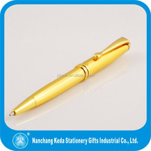 Golden luxury turning metal ball pen with logo printable