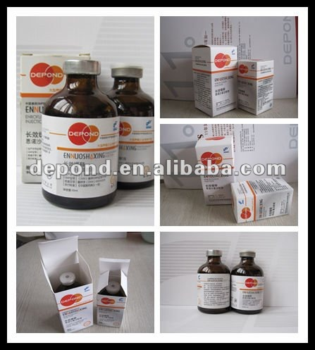 Enrofloxacin injection 20%/water for injection/veterinary medicine/vitamin b1 b6 b12 injection