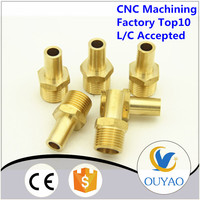Factory customized cnc brass fitting for plumbing