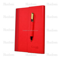 2016 custom pu cover diary with pen
