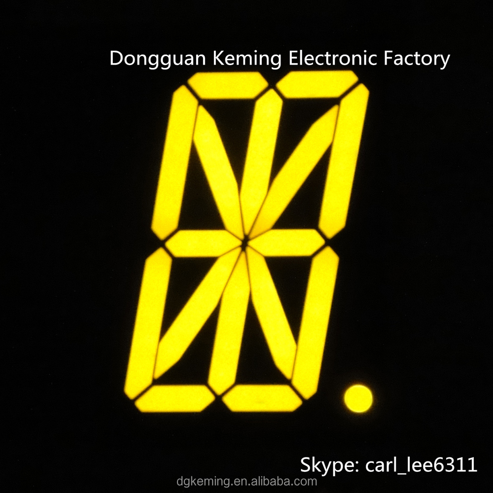 Led 7 Segment Display Circuit Guide And Troubleshooting Of Wiring Seven Decoder 2 3 Inch Sign Ultra Yellow 14 16 4 Digit