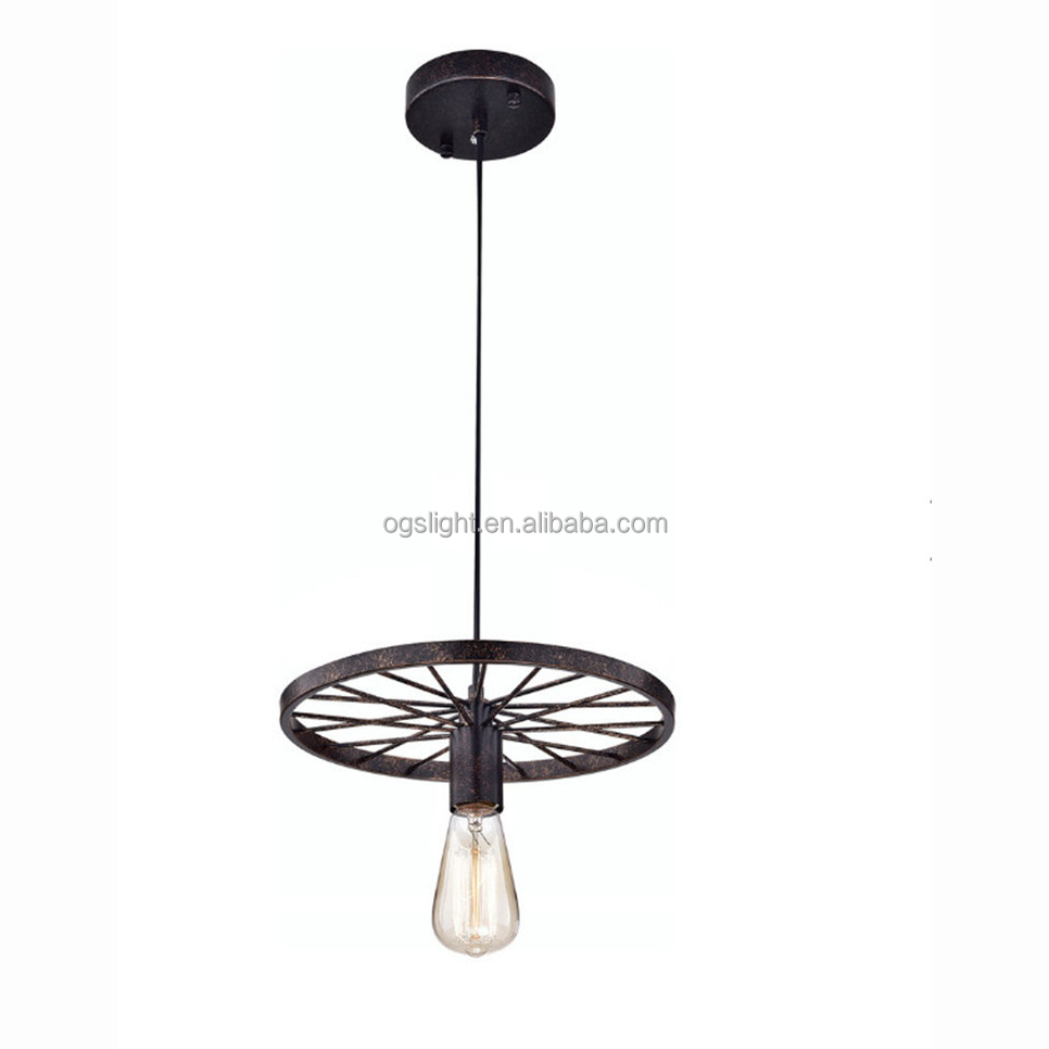 Retro restaurant bar vintage car wheel light xmas decor wheel chandelier vintage style