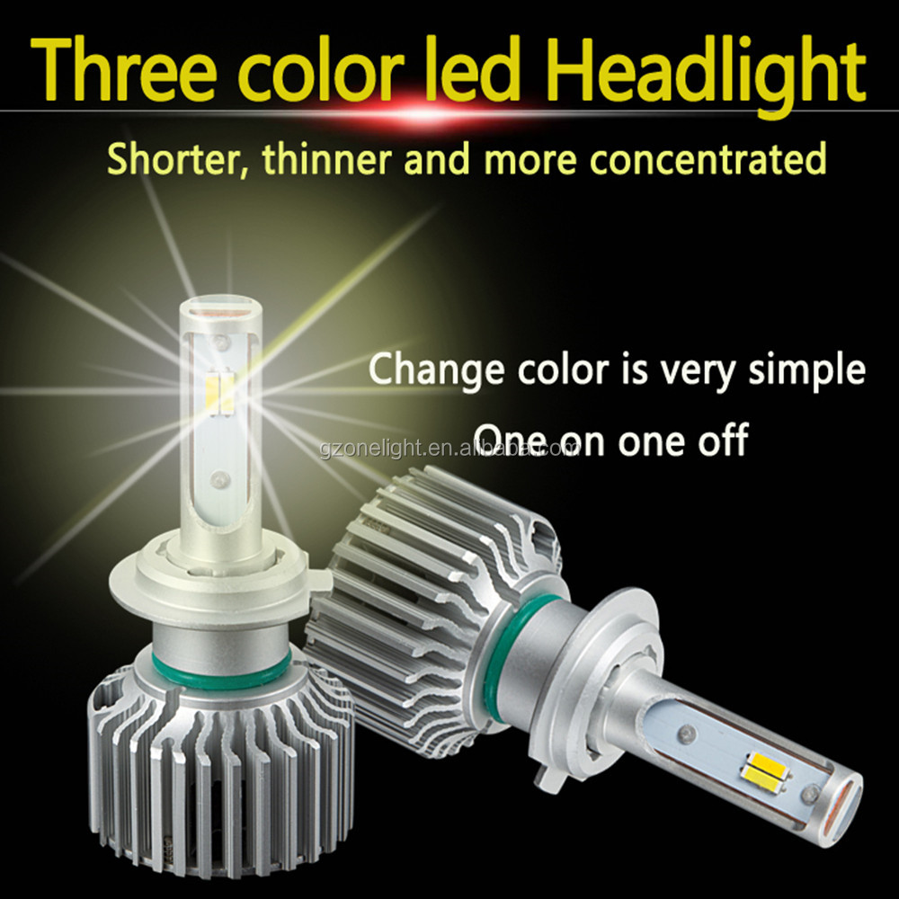 New Led Head Lamp H7 Led Headlight Bulb with dual color