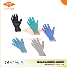 Disposable approved colorful nitrile gloves supplier