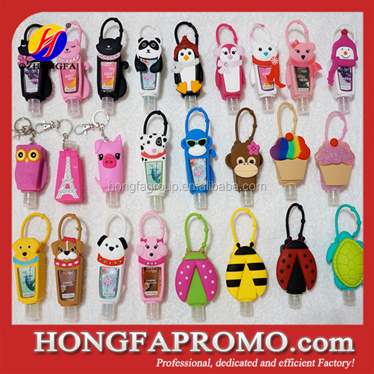 2015 Promotional 30ml Animal Hand Sanitizer Silicone Holder
