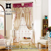 100% polyester new jacquard fabric curtain/beaded valance