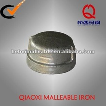 female gi malleable iron pipe fitting casting end round cap joint
